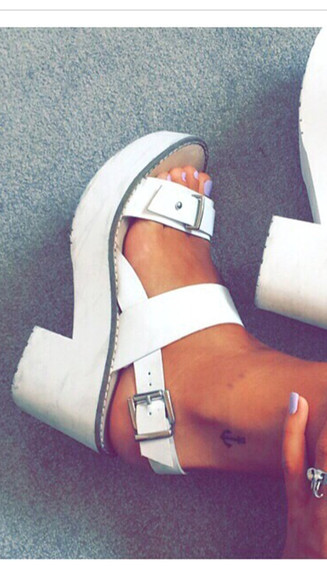 shoes buckles white shoes white sandal heels white shoes with buckle peep toe heels white peep toes sandals platform shoes