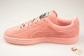 shoes,pumasuede,pastel,lightpink,puma,sneakers,pastel sneakers,suede sneakers