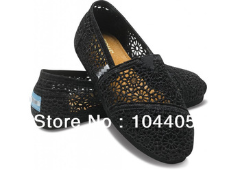 2014 New authentic lace hollow models wild joy European style canvas shoes SIZE35 40  HOT TOMOSMODEL-in Flats from Shoes on Aliexpress.com