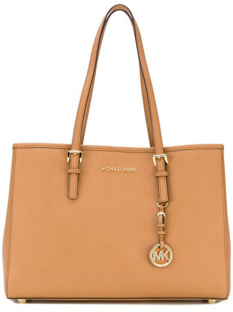 MICHAEL Michael Kors women bag tote bag leather brown