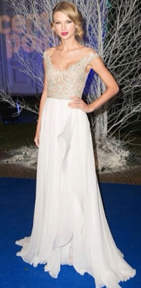 dress taylor swift nude neutral sheer prom dress long prom dresses prom dresses 2013 white sparkly dress