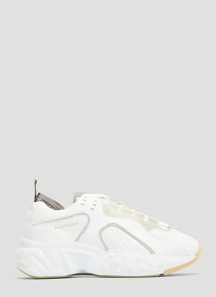 Acne Studios Technical Leather Sneakers in White size EU - 38