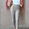Suede button pants