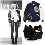 jacket,varsity jacket,opening ceremony,shoes,beyonce