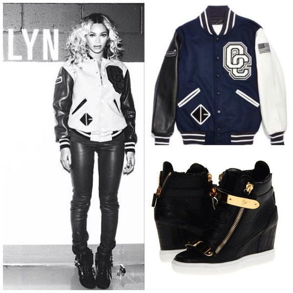 jacket varsity jacket opening ceremony shoes beyonce