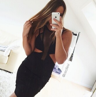 dress black dress dress with cuts short black dress dress with colored straps