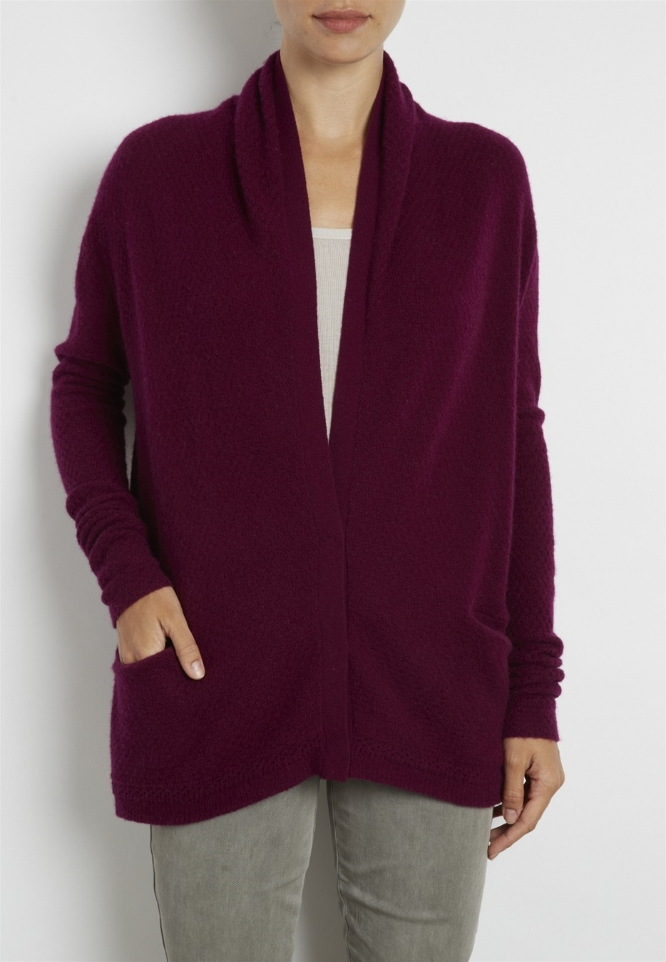 Whisper weight crepe cardigan