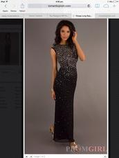 dress,sequin black dress,tear drop cutout back