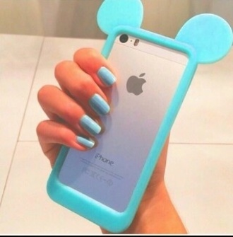 phone cover mickey blue cool