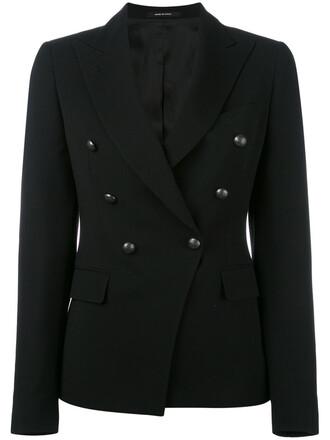 blazer jacket women black wool