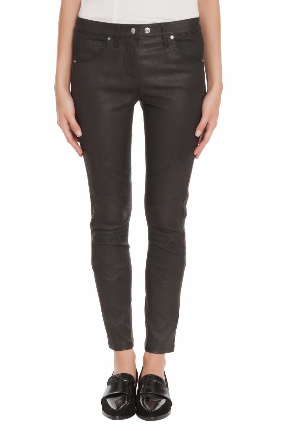 Black jelena leather skinny pant