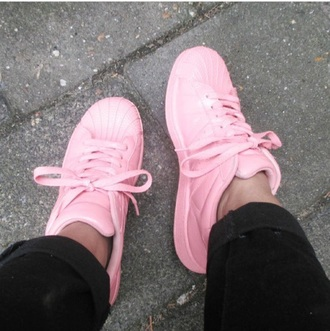shoes pink adidas fashion tumblr tumblr outfit tumblr girl cute adidas originals adidas superstars trendy unisex