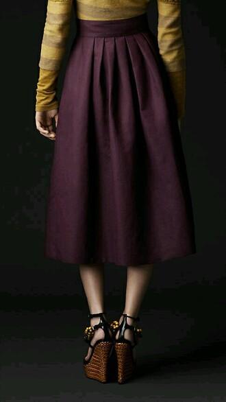 skirt purple midi midi skirt long skirt purple skirt royal purple high waisted skirt