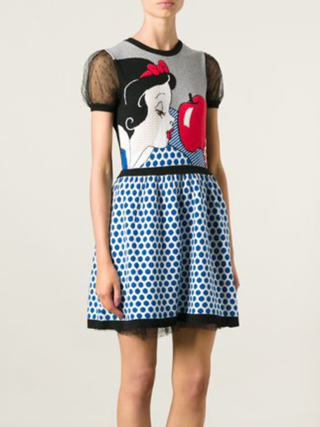dress Valentino disney knit snow-white tulle skirt
