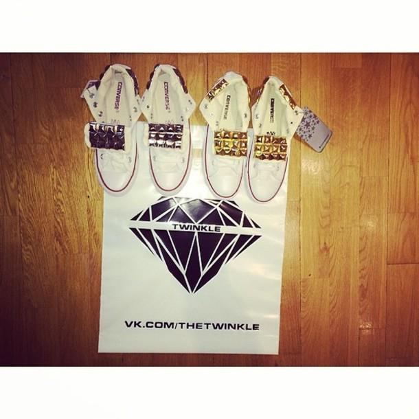 shoes twinkle diamonds converse stud white