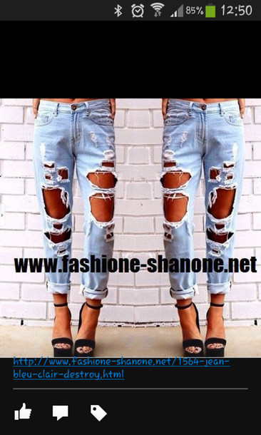 jeans ripped jeans fashion