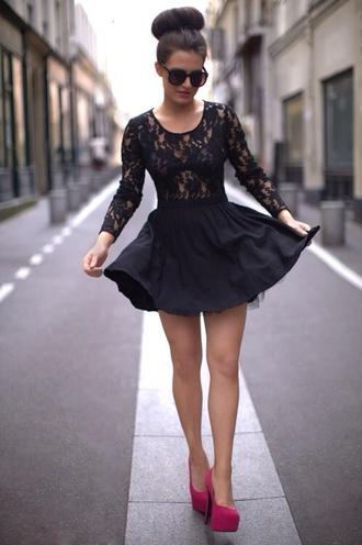 skirt black skirt black skater skirt black skater skirt black lace top lace blouse shirt