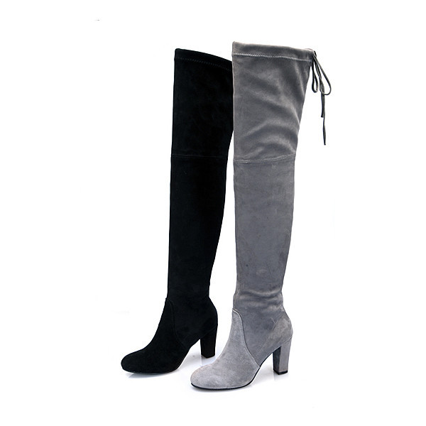thigh high boots 2 colors