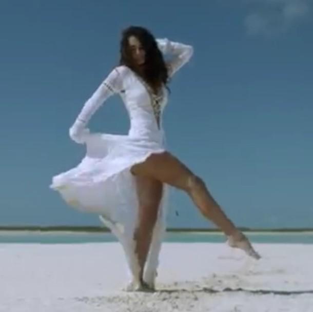 dress white crochet dress
