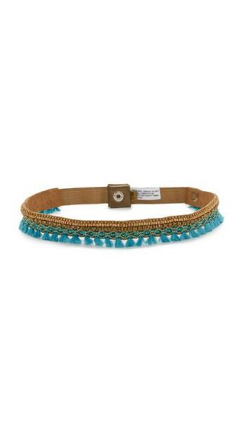 DEEPA GURNANI belt gold turquoise