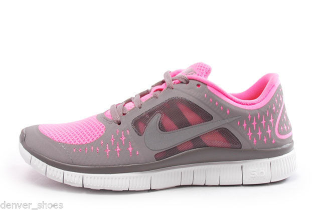 nike free run 3 grey and pink