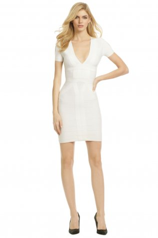 Herve Leger White Deep V Neck Half Sleeves Bandage Dress [White Half Sleeves Bandage Dress] - $165.00 : Cheap Herve Leger Bandage Dresses, 60% off Herve Leger Clothing Online