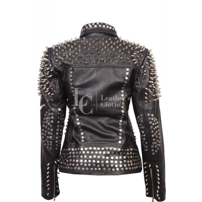 Till The World Ends Britney Spears Mtv Music Studded Leather Jacket