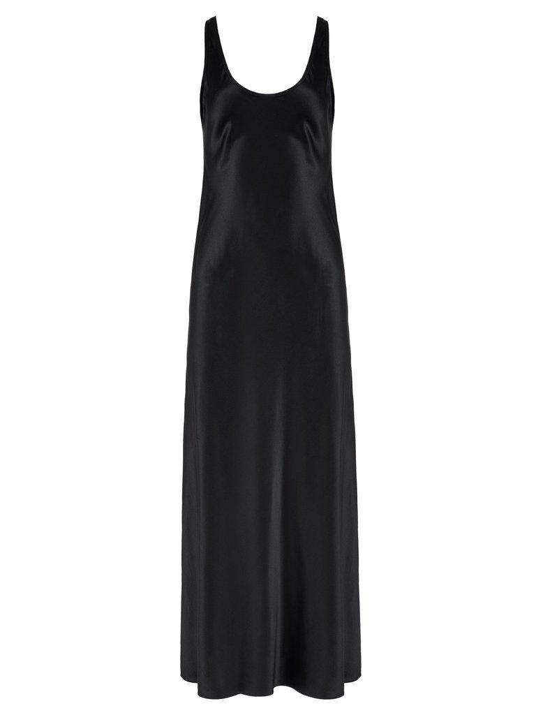 Scoop Neck Slip Dress With Side Slit