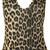 katie leopard print halterneck bodysuit