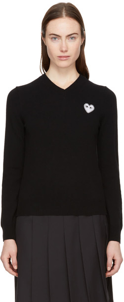 Comme Des Garcons Play sweater heart black