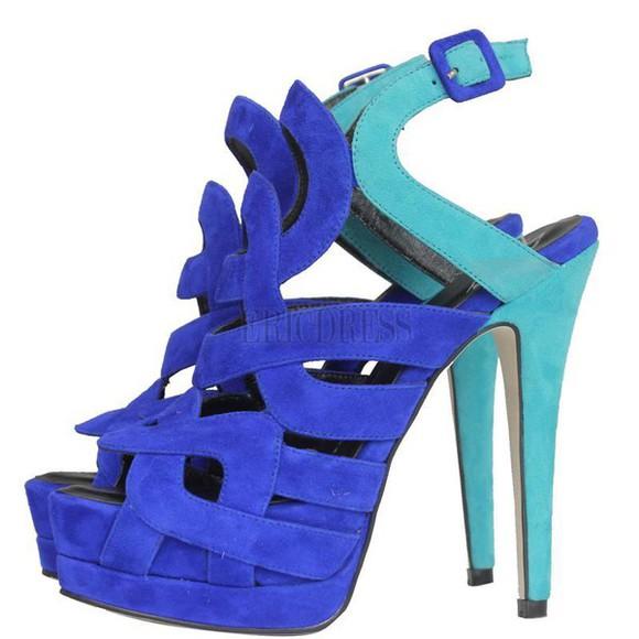 turquoise blue shoes pumps multi colored