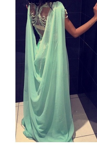 dress sexy dress amazing #classy #floorlength amazing bleu ocean blue bleu turquoise bleu dress wanted