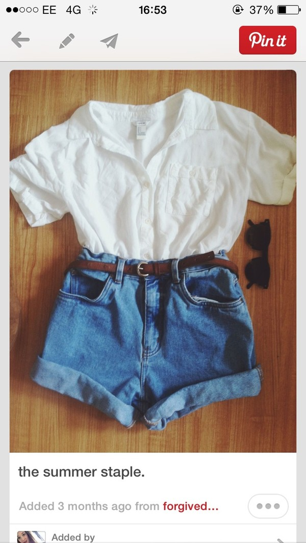 shorts denim summer blouse