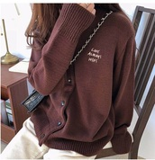 sweater,girly,brown,cardigan,button up
