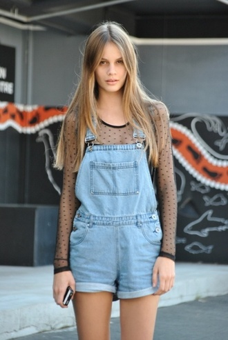 pants clothes dungarees denim tumblr gorgeous girly practical chic stylish summer light blue denim shirt light blue blue dress pockets