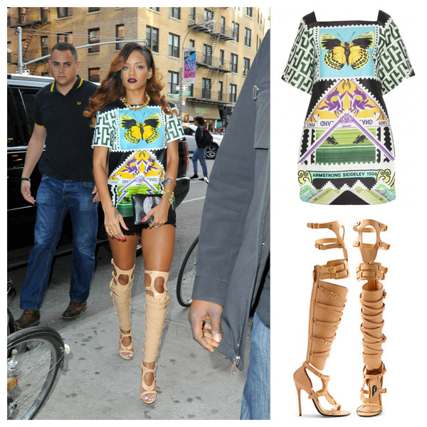 dress rihanna printed dress shoes