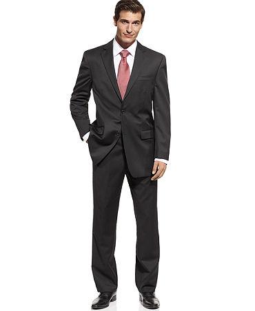 Michael Michael Kors Suit Black Solid - Suits & Suit Separates - Men - Macy's