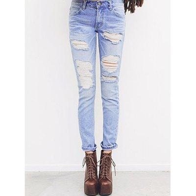 Mandy torn denim jeans · fashion struck · online store powered by storenvy