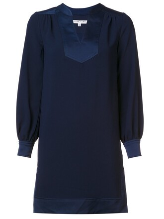 dress shift dress women spandex blue