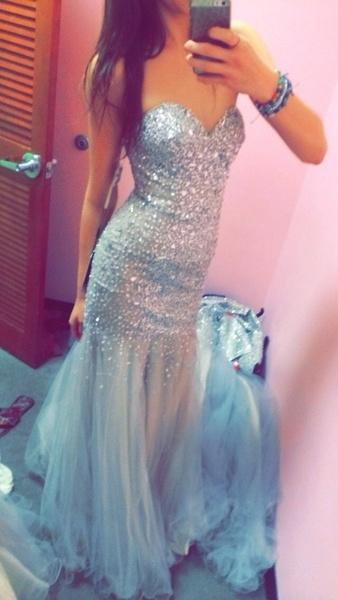 Stunning sweetheart mint long chiffon prom dress, homecoming dress, formal dress
