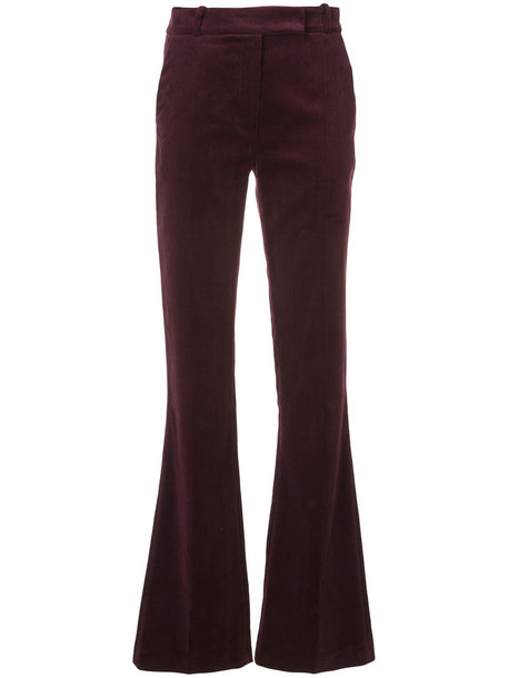 MARTIN GRANT women cotton red pants