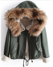 jacket,camouflage,green,fur,faux,collar,hooded,drawstring,trench coat,wow,trendy,fall outfits,forest green