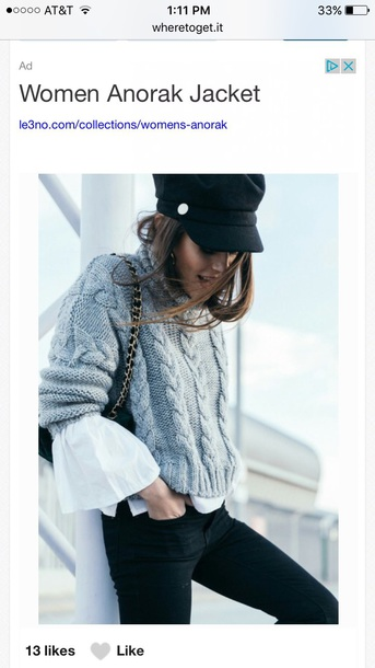 sweater tumblr grey sweater cable knit it