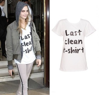 New Women's Shirt Cara Delevingne Womens Last Clean T shirt Slogan T Shirt Customized T Shirts 100% Cotton Free Shipping-in T-Shirts from Apparel & Accessories on Aliexpress.com