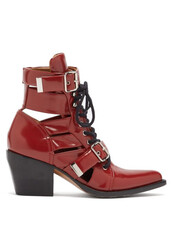 leather ankle boots,ankle boots,leather,red,shoes