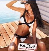 swimwear,black swimwear,bandage bikini