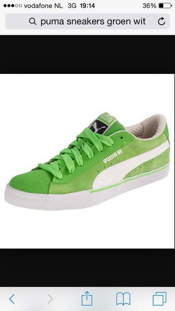 shoes green white