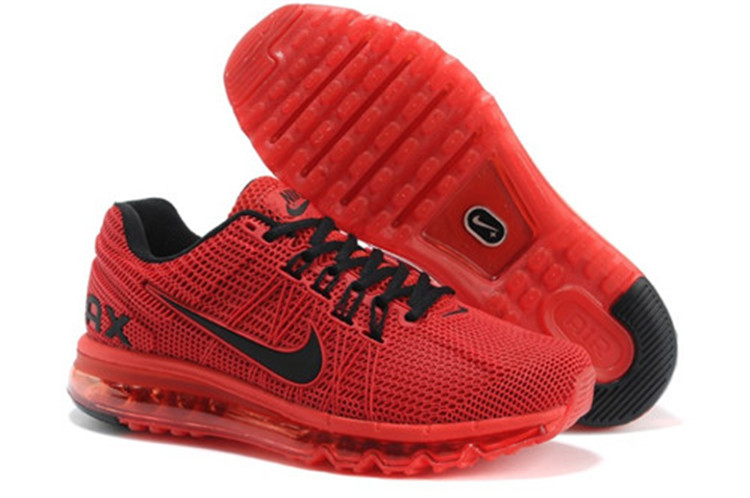 2014 nike air max mens red black