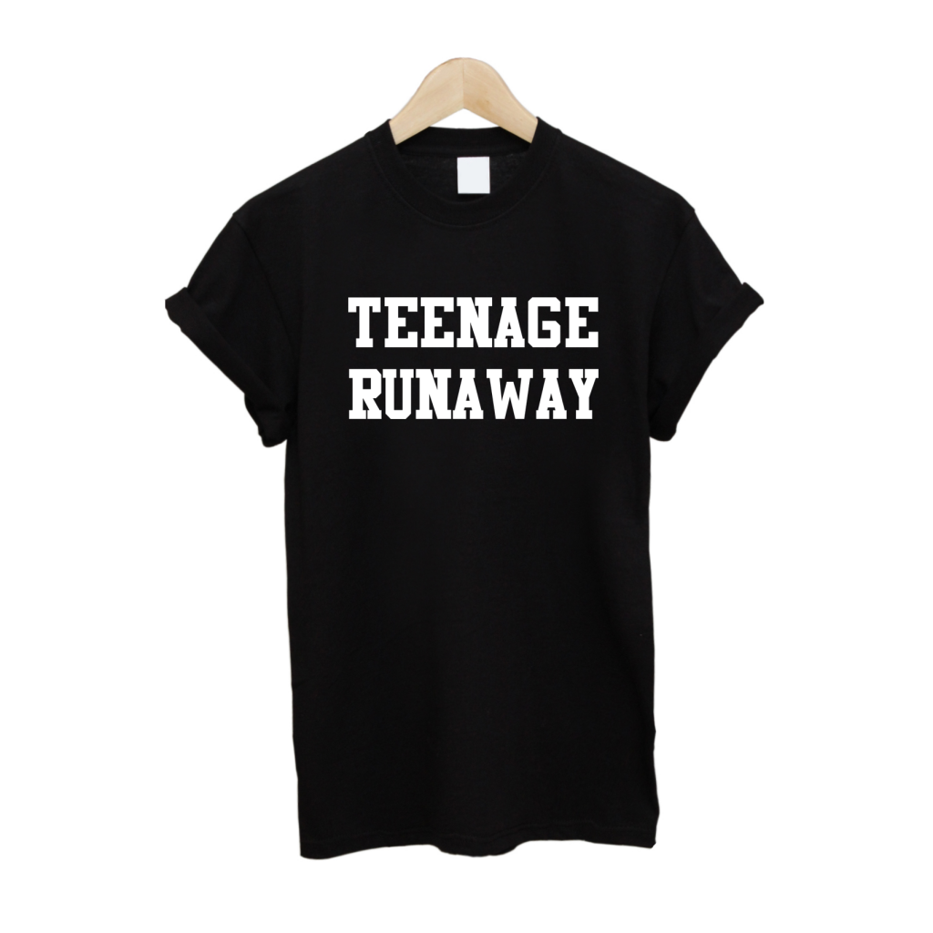 Teenage Runaway T Shirt £10   Free UK Delivery   10% OFF