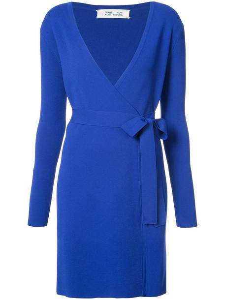 Dvf Diane Von Furstenberg dress wrap dress women classic blue